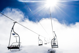 Ski Ropeway Background for Android, iPhone and iPad