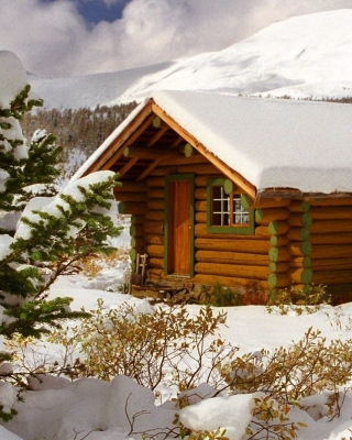 Cozy winter house - Obrázkek zdarma pro Nokia Asha 308