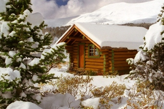 Cozy winter house Wallpaper for Android, iPhone and iPad