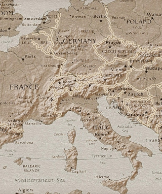 Map Of Europe - Obrázkek zdarma pro Nokia X3-02