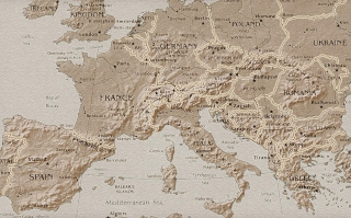 Map Of Europe Background for Android, iPhone and iPad