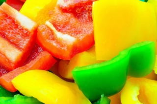 Red Green And Yellow Paprika Background for Android, iPhone and iPad