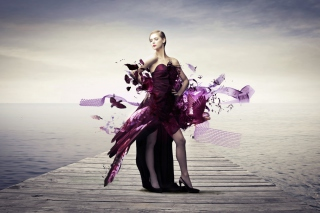 Creative Purple Dress Wallpaper for Android, iPhone and iPad