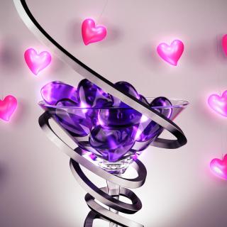 Glass Hearts - Obrázkek zdarma pro 1024x1024