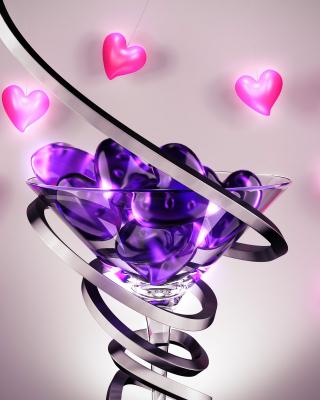 Glass Hearts - Obrázkek zdarma pro Nokia Lumia 520