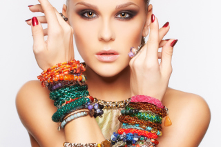 Girl in Bracelets Picture for Android, iPhone and iPad