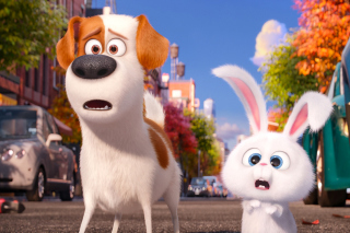 The Secret Life of Pets, Max and Snowball - Obrázkek zdarma pro Motorola DROID 2