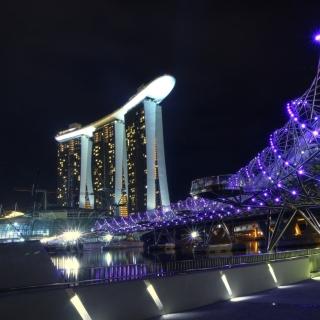 Helix Bridge in Singapore - Obrázkek zdarma pro 1024x1024