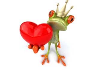 Free Frog Love Picture for Android, iPhone and iPad