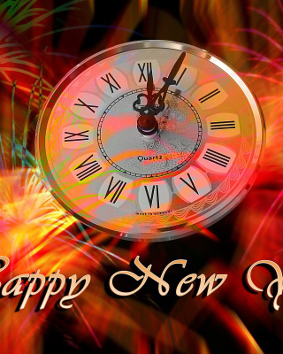 Happy New Year Clock - Obrázkek zdarma pro iPhone 6 Plus