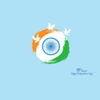 15th August Indian Independence Day - Obrázkek zdarma pro 320x320