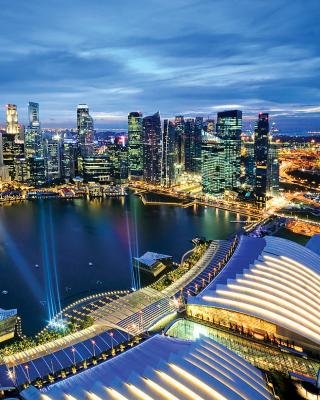 Singapore evening cityscape - Obrázkek zdarma pro Nokia Asha 203