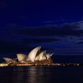 Opera house on Harbour Bridge in Sydney - Obrázkek zdarma pro iPad