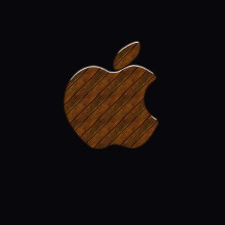 Apple Wooden Logo - Obrázkek zdarma pro 208x208