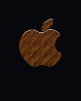 Apple Wooden Logo - Obrázkek zdarma pro Nokia X6