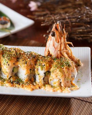 Sushi with shrimp - Obrázkek zdarma pro Nokia C6-01
