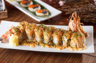 Free Sushi with shrimp Picture for Android, iPhone and iPad