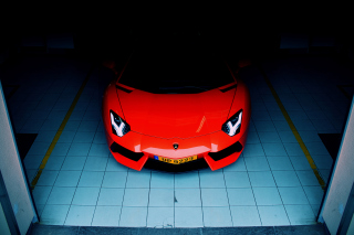 Free Red Lamborghini Aventador Picture for Android, iPhone and iPad