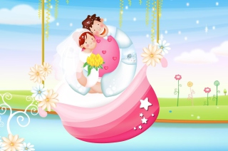 The Couple Love Boat - Obrázkek zdarma pro HTC Hero