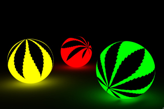 Neon Weed Balls Wallpaper for Android, iPhone and iPad