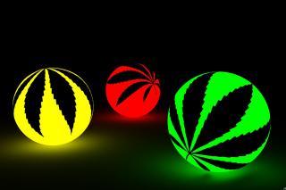 Neon Weed Balls sfondi gratuiti per cellulari Android, iPhone, iPad e desktop