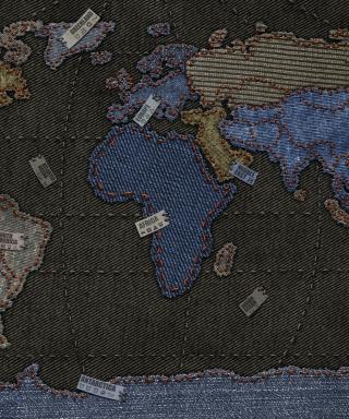 Jeans World Map - Obrázkek zdarma pro 480x800