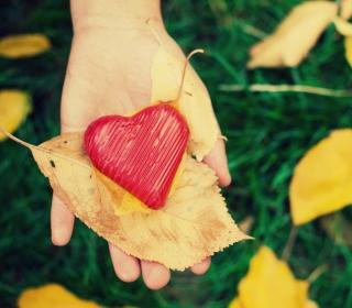 I Heart Autumn - Obrázkek zdarma pro 128x128