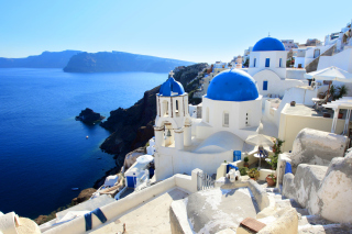 Greece, Santorini Background for Android, iPhone and iPad