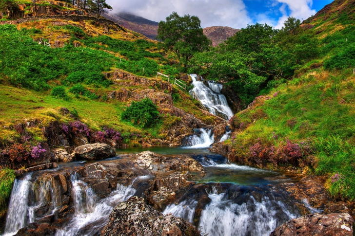 Snowdonia National Park in north Wales wallpaper