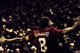 Steven Gerrard Football Picture for Android, iPhone and iPad