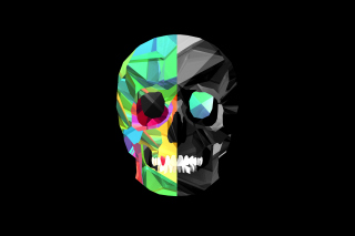 Skull Art Background for Android, iPhone and iPad