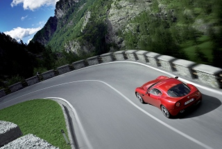 Red Alfa Romeo - Obrázkek zdarma pro 800x480
