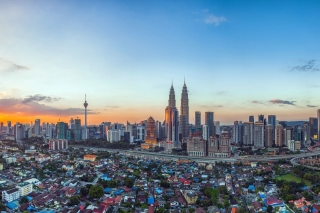 Kuala Lumpur Panorama Wallpaper for Android, iPhone and iPad