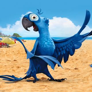 Rio Character Blu - Obrázkek zdarma pro iPad 3