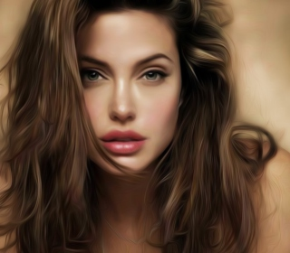 Angelina Jolie Art - Obrázkek zdarma pro iPad 2
