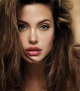 Angelina Jolie Art - Obrázkek zdarma pro Nokia Asha 202