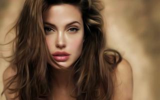 Angelina Jolie Art - Obrázkek zdarma pro Android 1440x1280