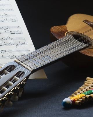 Guitar and notes - Obrázkek zdarma pro Nokia X6