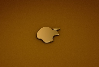 Golden Apple Logo Wallpaper for Android, iPhone and iPad