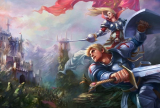 Fantasy Knights Wallpaper for Android, iPhone and iPad