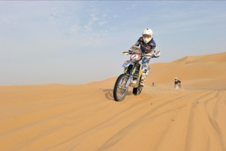 Moto Rally In Desert Background for Android, iPhone and iPad
