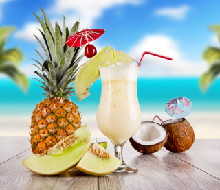 Coconut and Pineapple Cocktails - Obrázkek zdarma pro iPad 3