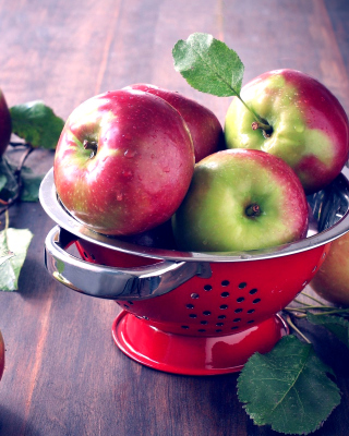 Autumn apple harvest - Obrázkek zdarma pro 360x400