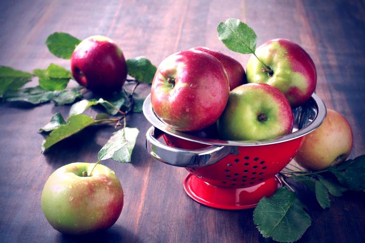 Autumn apple harvest wallpaper