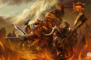 Free World of Warcraft Battle Picture for Android, iPhone and iPad