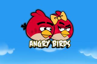 Angry Birds Love - Obrázkek zdarma pro HTC Wildfire