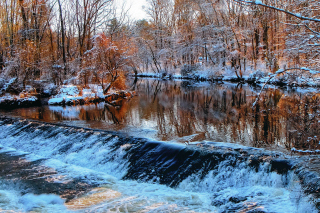 Winter Stream Wallpaper for Android, iPhone and iPad
