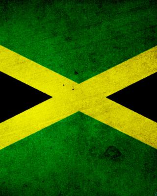 Jamaica Flag Grunge - Obrázkek zdarma pro Nokia Asha 310