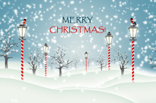 Christmas Park with Snow Background for Android, iPhone and iPad
