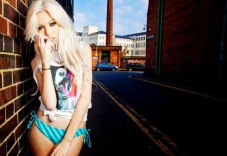 Картинка Hot Blonde In Bikini для Android
